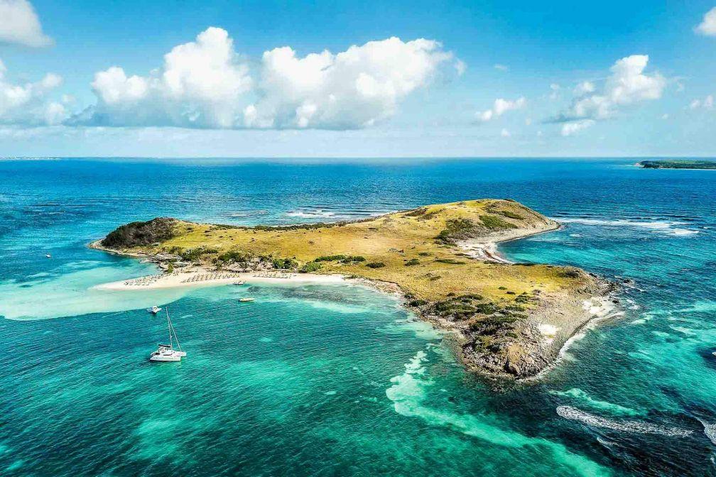 L'île Pinet, un décor paradisiaque à quelques centaines de mètres de l'île de Saint-Martin © DR