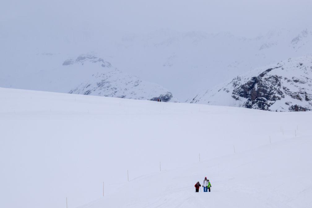 Skieurs de fond du côté de Solaise, même quand la météo n'est plus au rendez-vous ! © YONDER.fr