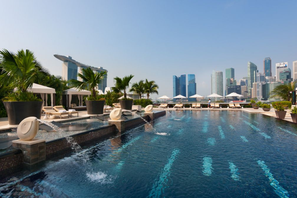 La piscine justifie à elle seule qu'on séjourne au Mandarin Oriental Singapore   © Mandarin Oriental Hotels Group
