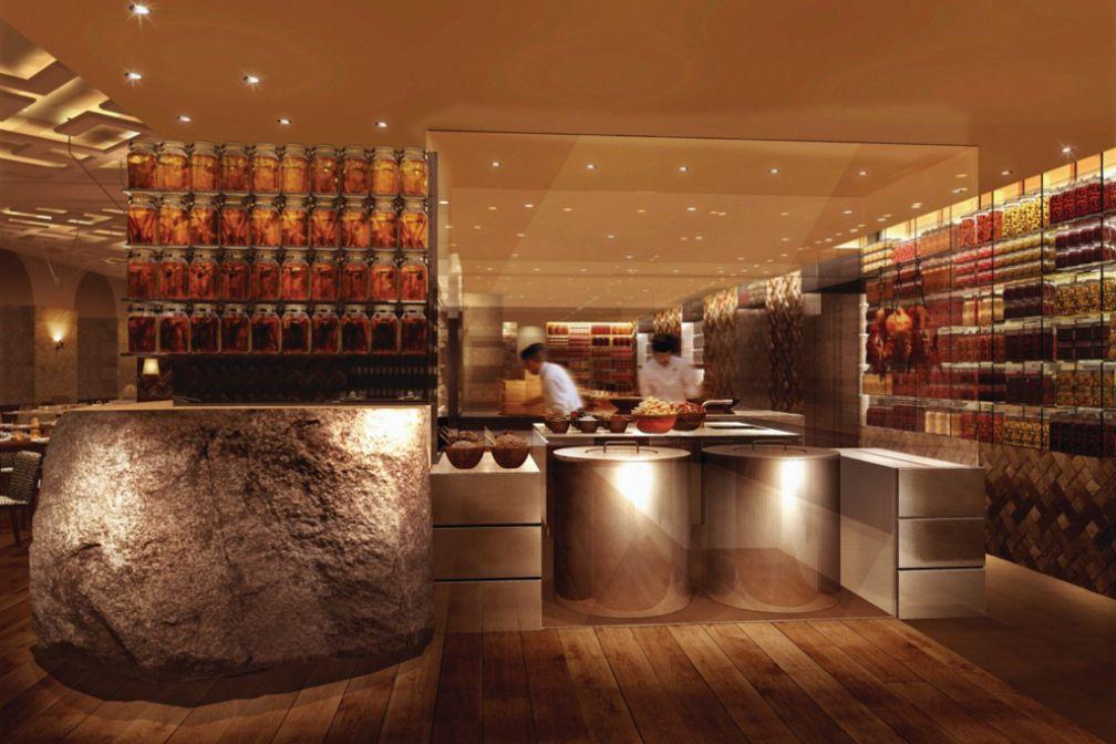 Le design du tout nouveau restaurant AZIA a été imaginé par le célèbre studio tokyoïte SuperPotato