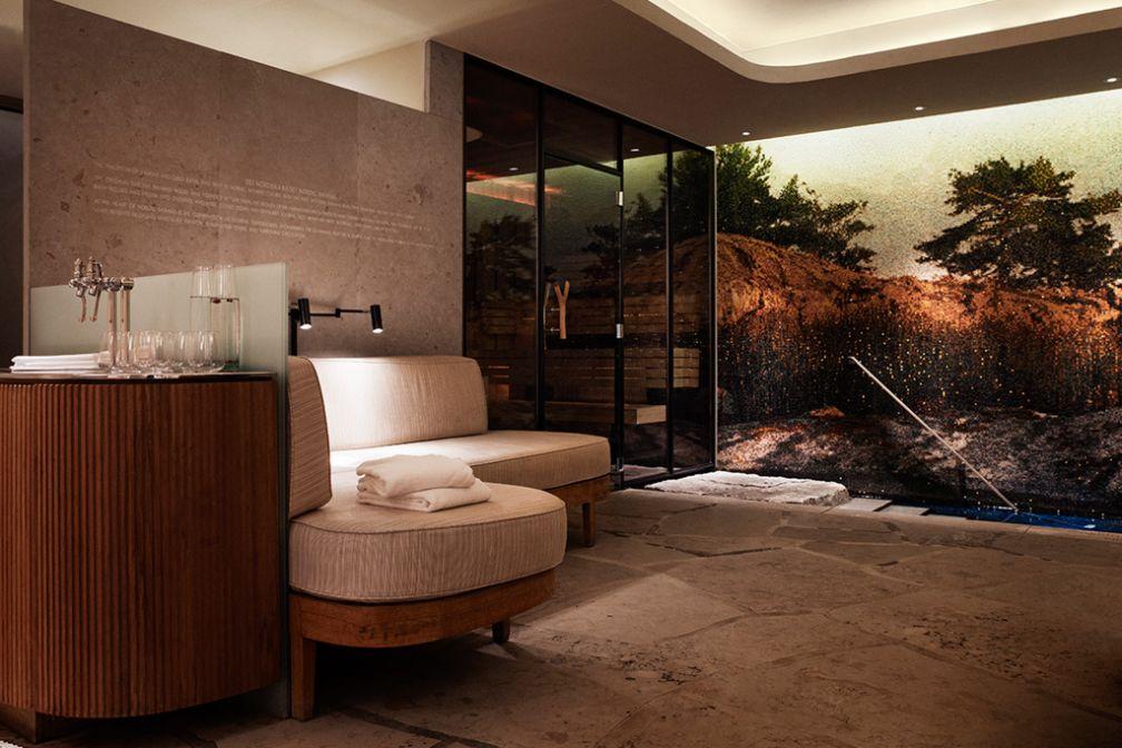 Les vestiaires du spa sont particulièrement confortables et luxueux. | © Grand Hôtel Stockholm