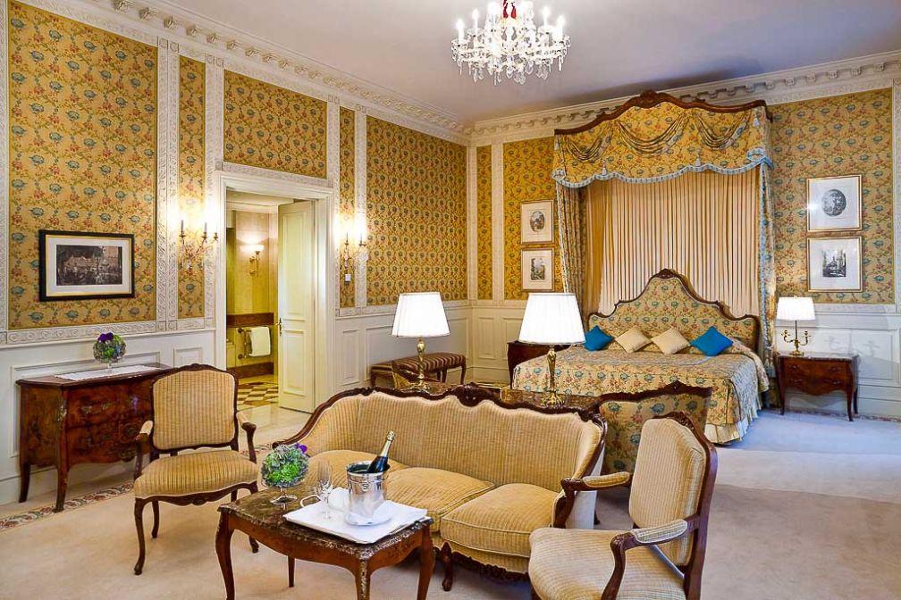 La principale chambre de la Suite Présidentielle : un luxe impressionnant | © Grand Hotel Wien