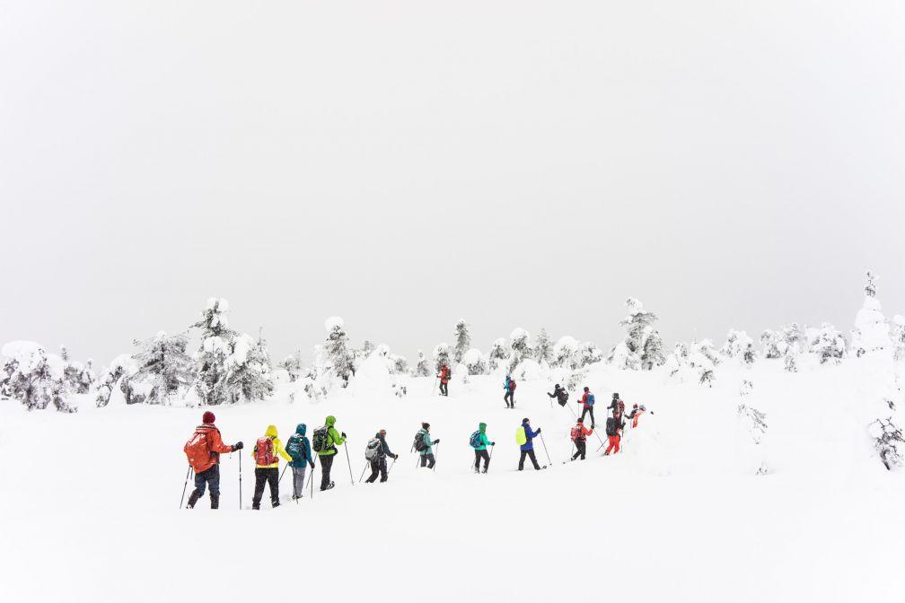 Skieurs dans le parc national du Riisitunturi. © YONDER.fr