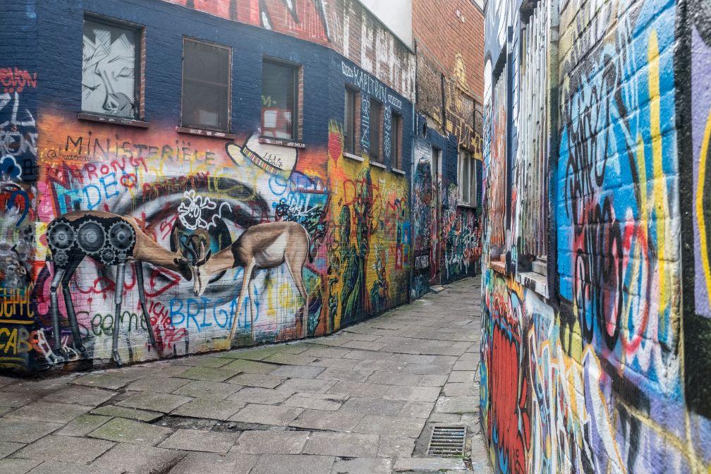 Une rue entière, la Werregarenstraat, est même officiellement consacrée au Street Art. © VisitGent