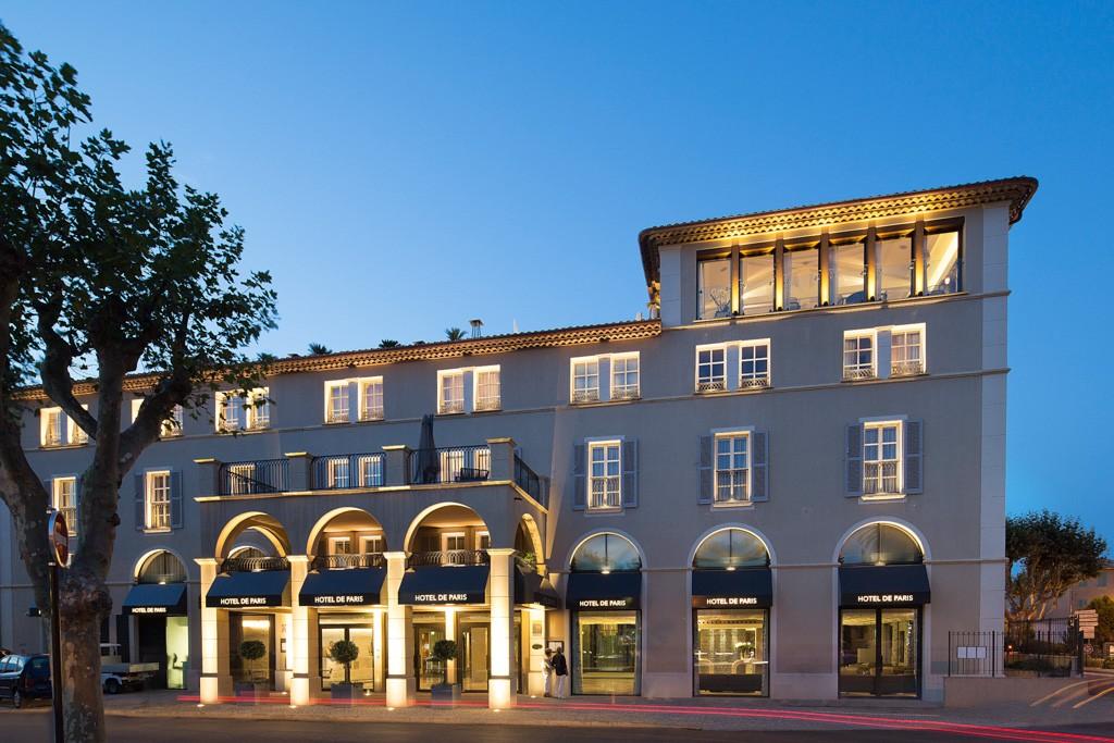 L h tel de paris saint tropez le luxe contemporain sur - Hotel avec piscine pres de paris ...