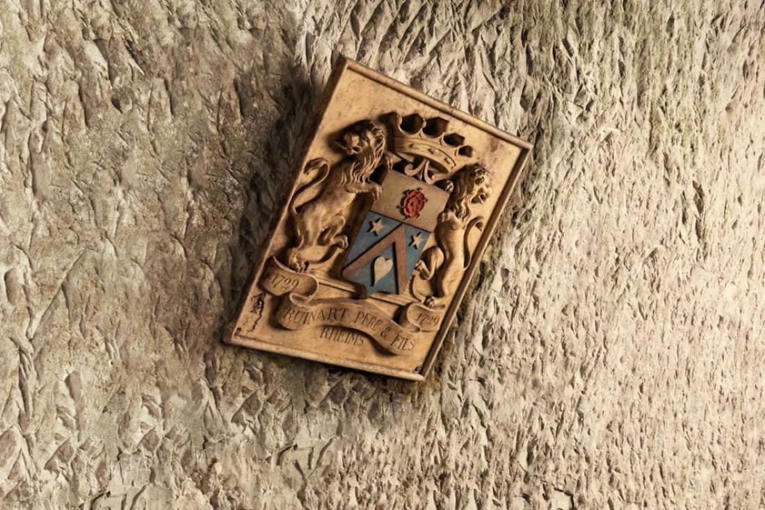 Les armoiries de la famille Ruinart de Brimont anoblie sous le règne de Louis XVI  © Maison Ruinart
