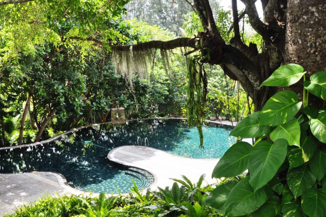 La piscine du spa, où vous relaxer après un massage traditionnel © Constance Lugger