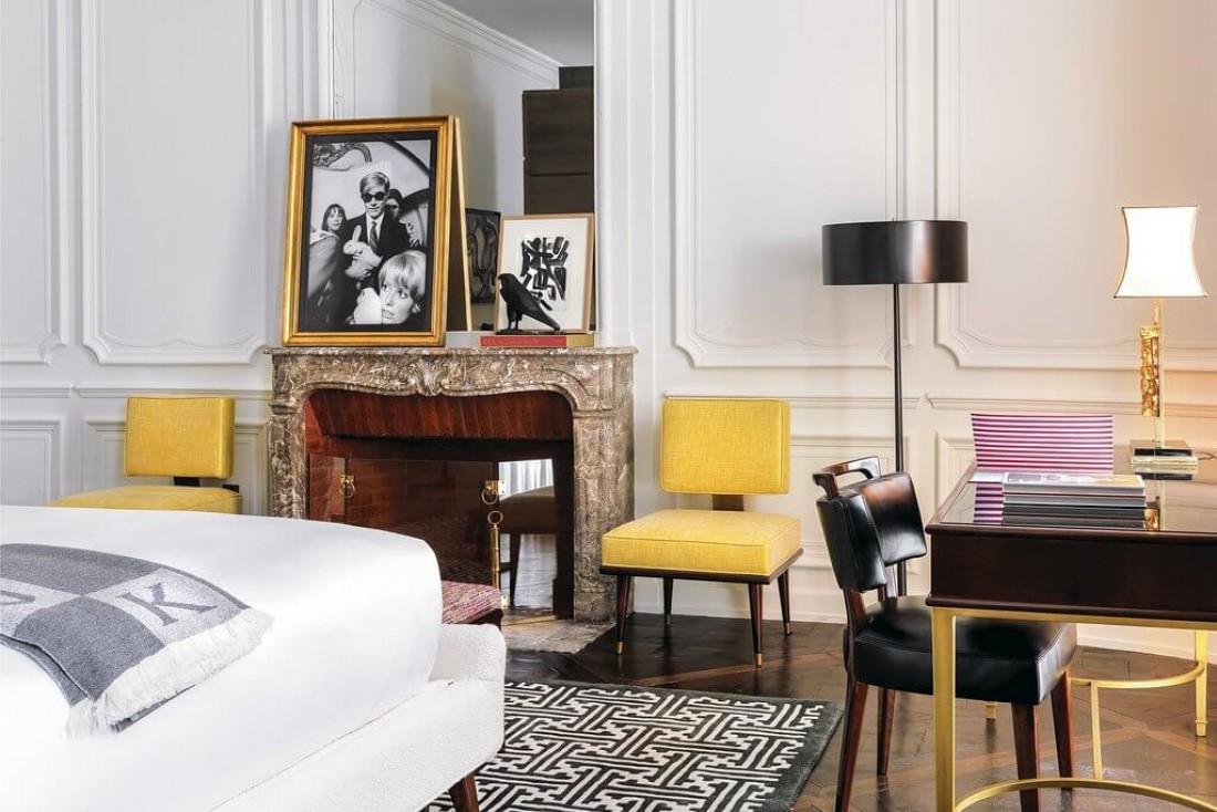 Pensée comme la maison d'un collectionneur, chaque chambre mêle le chic italien contemporain et l'art de vivre à la française © DR