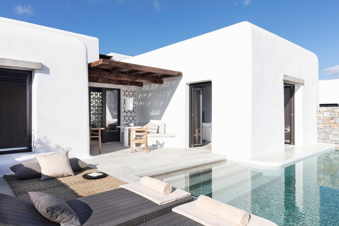 L'une des 25 suites avec piscine de Kalesma Mykonos © Katerina Avgerinopoulou