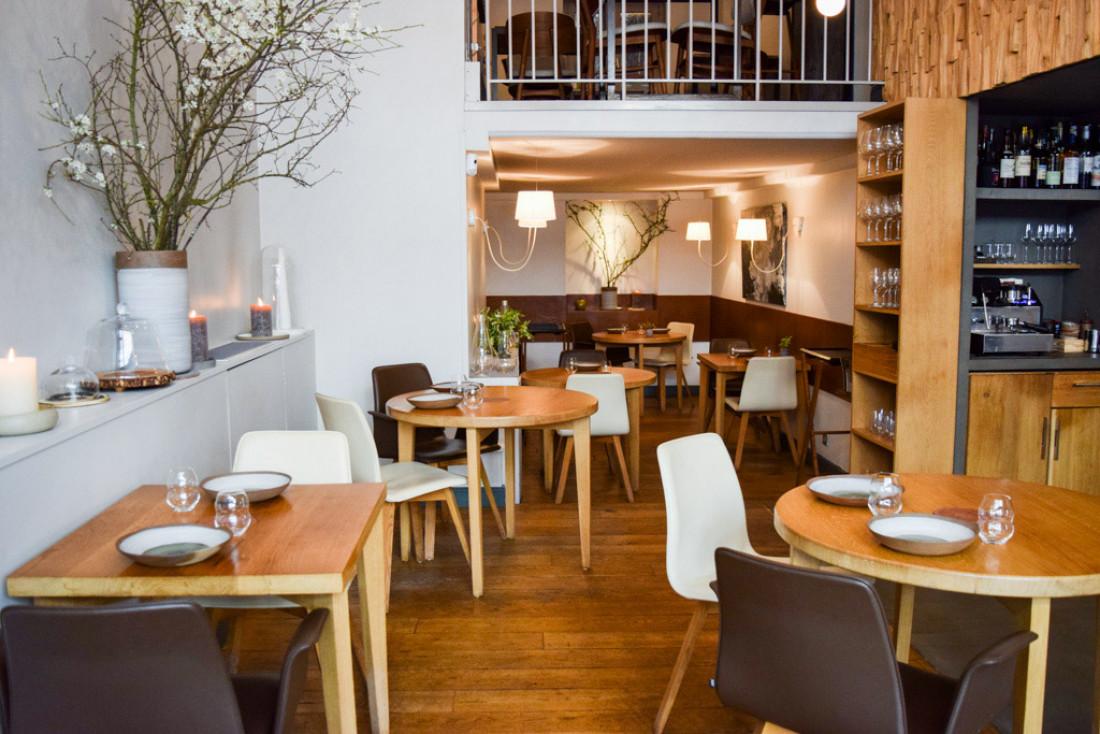 Décor d'inspiration scandinave dans le restaurant de David Toutain © Yonder.fr