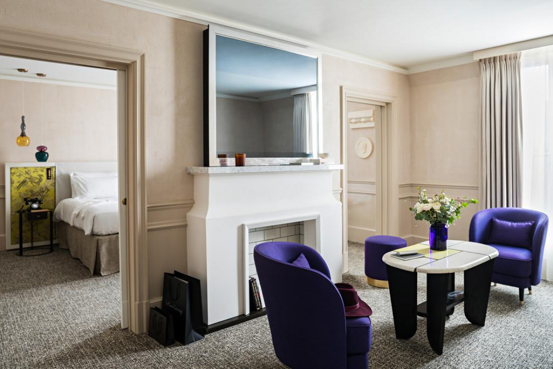 Agencements sobres et chics, luxe discret, voici le nouveau visage de l'hôtel Le Scribe Paris Opéra © Yann Deret