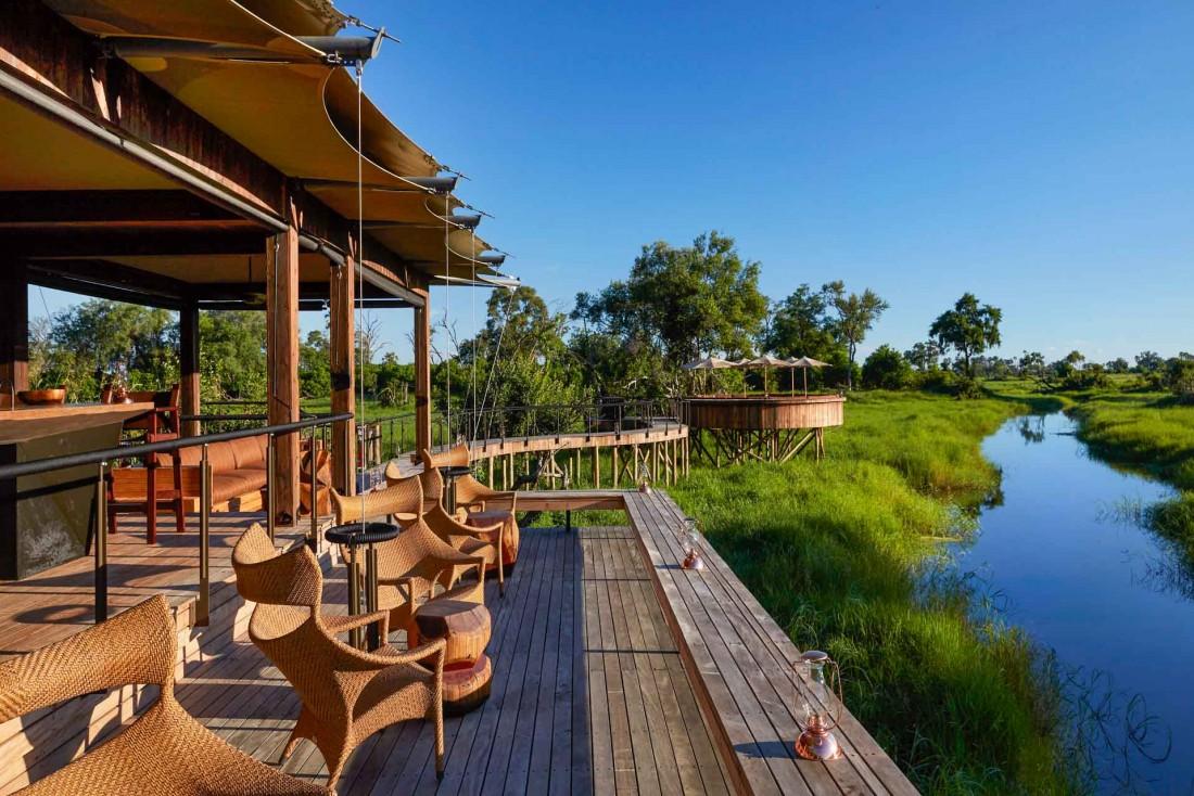 Le Xigera Lodge, entièrement sur pilotis, a un impact minimal sur son environnement © Xigera Safari Lodge