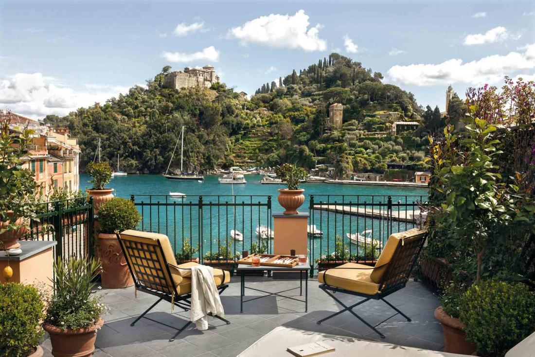Le Splendido Mare sur la place principale de Portofino, la destination glamour de la Riviera italienne © Belmond Hotels