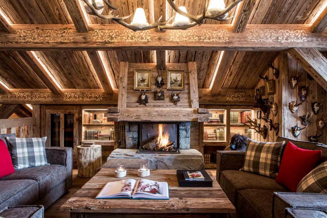 Le Refuge de la Traye et ses intérieurs en bois authentiques © DR