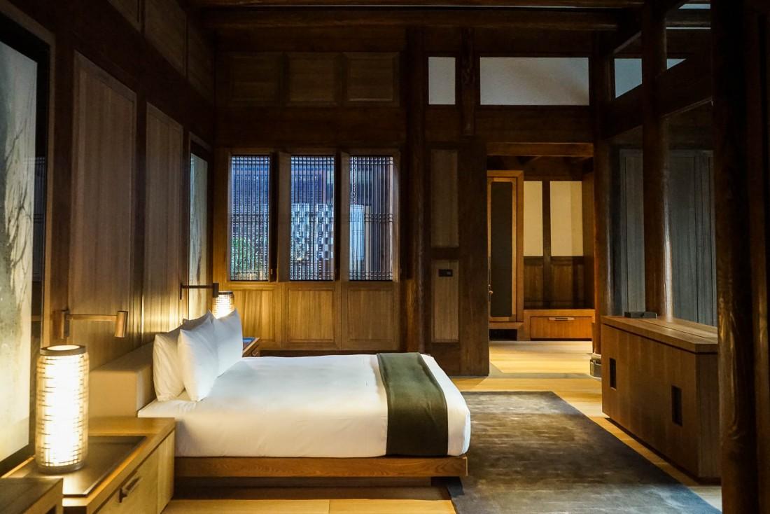 Intérieurs splendides dans l'une des 13 Antique Villas de l'Amanyangyun © YONDER.fr