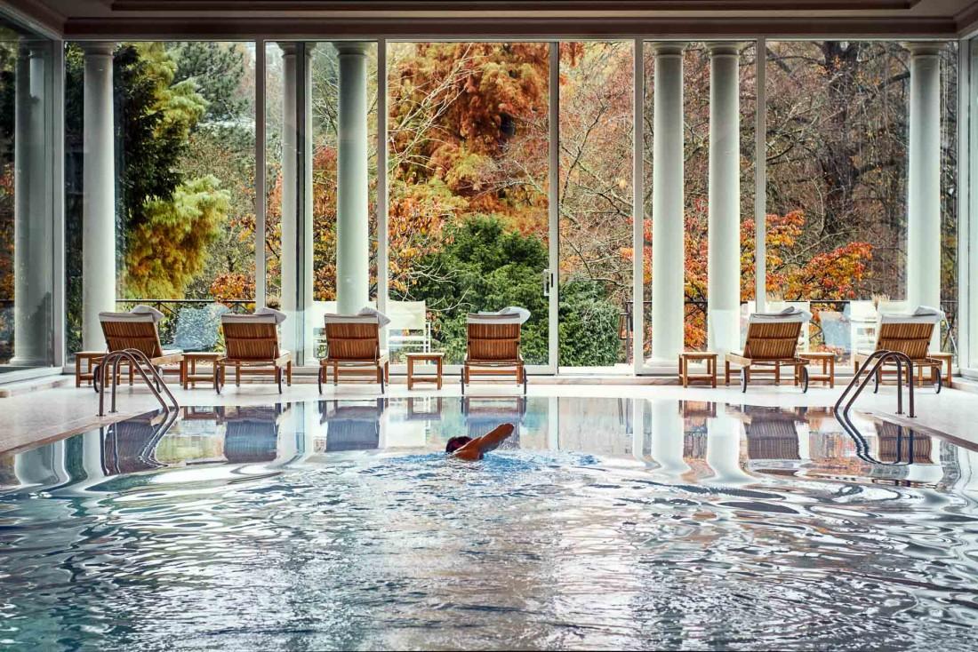 La piscine du Brenners Park, l'un des joyaux de l'hôtel © DR