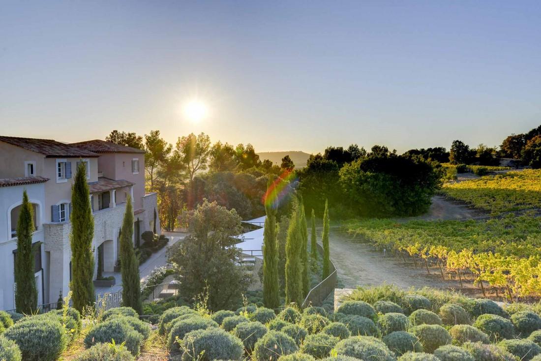 Coucher de soleil sur Coquillade Village © DR