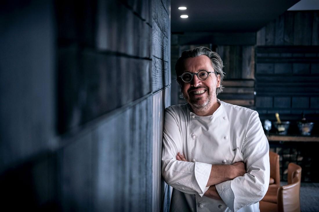 Portrait du chef Laurent Petit dans son restaurant d'Annecy, Le Clos des Sens © M. Cellard