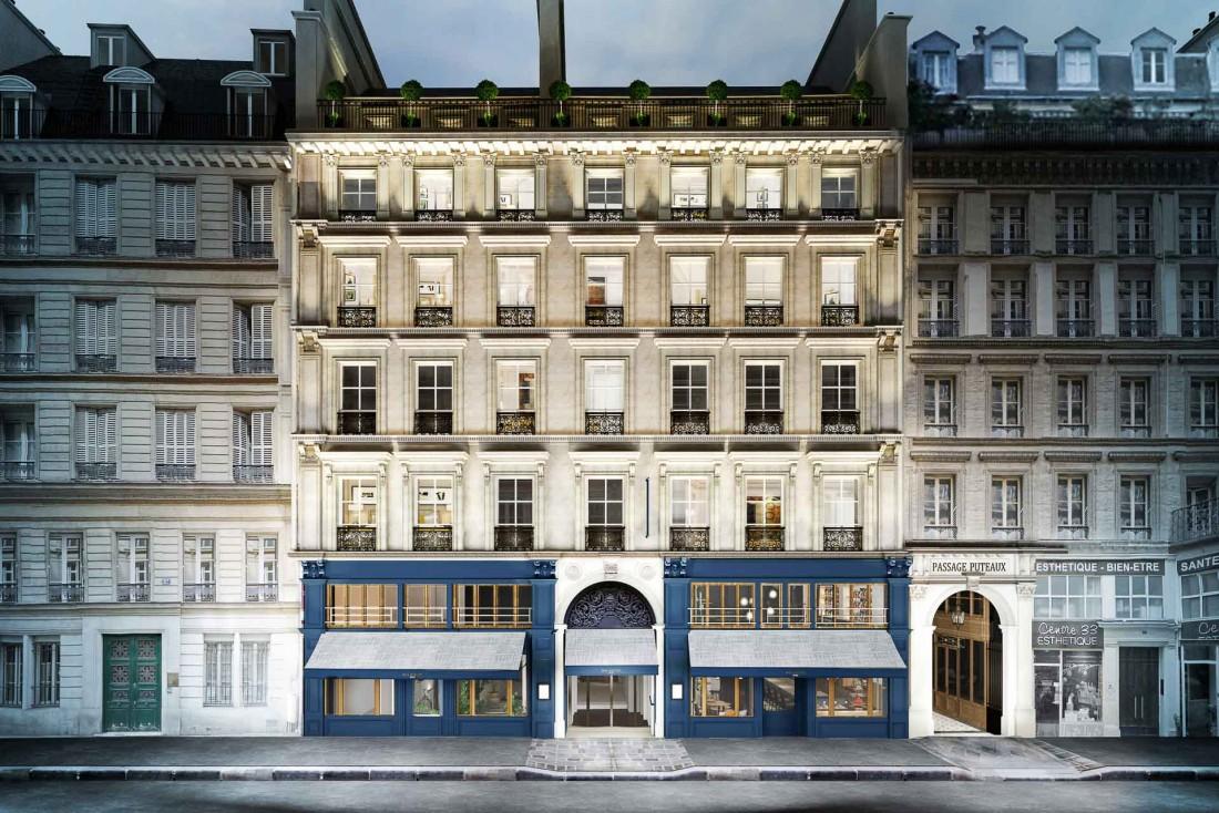La façade haussmannienne du Royal Madeleine, rue de l'Arcade (Paris 8ème) © DR