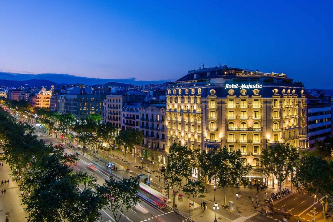 La façade du Majestic Hotel & Spa Barcelona sur le Passeig de Gràcia, la plus célèbre avenue de la ville © DR
