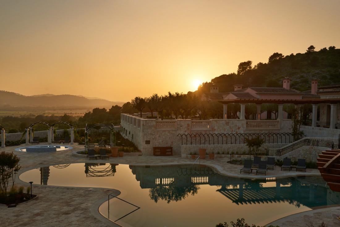 Coucher de soleil sur le tout nouveau Park Hyatt Mallorca à Majorque (Baléares) © Park Hyatt