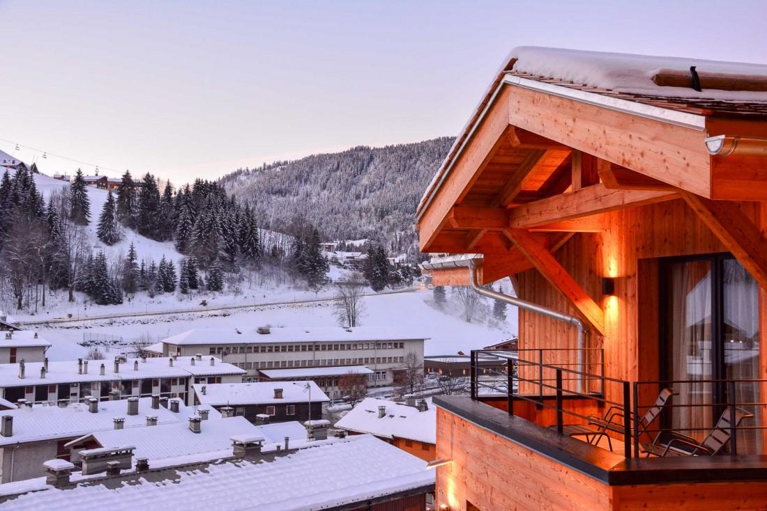 Le St-Alban Hotel & Spa, établissement 4-étoiles entièrement construit en bois, vient d'ouvrir ses portes à La Clusaz © Emmanuel Laveran