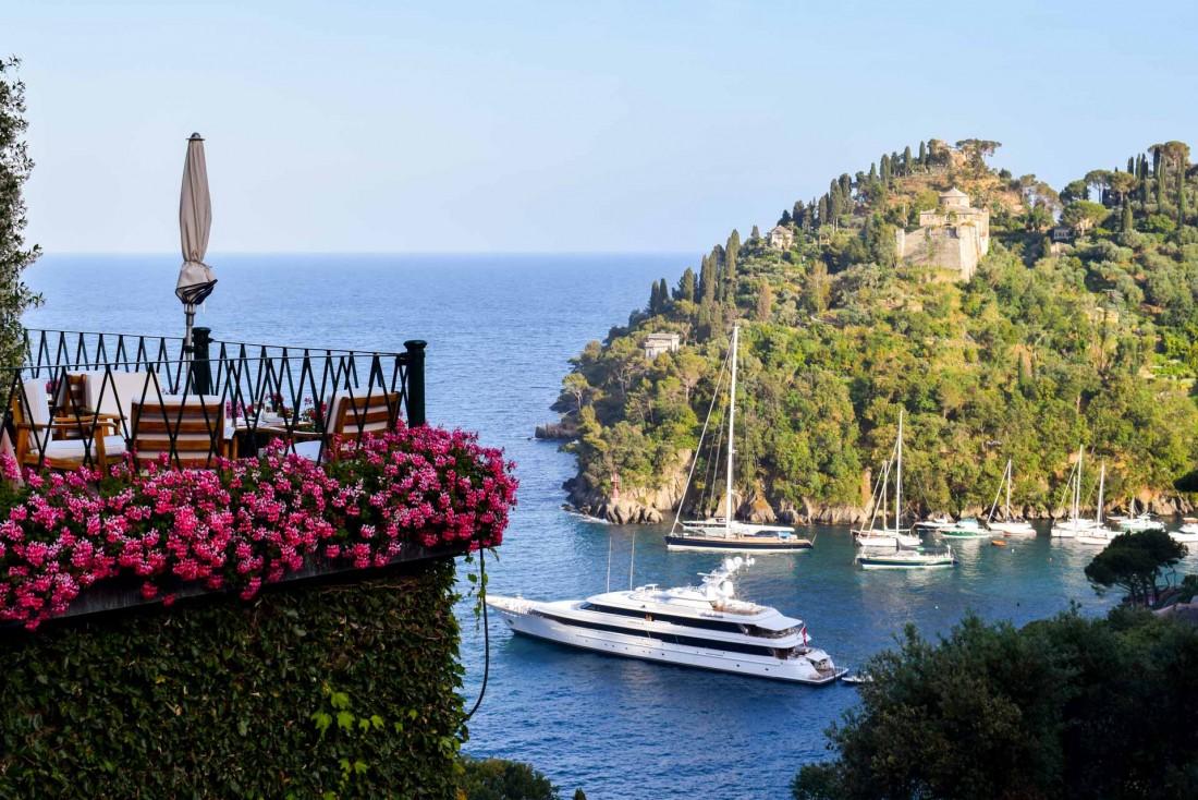 Vue spectaculaire sur la baie de Portofino depuis le Belmond Hotel Splendido © YONDER.fr