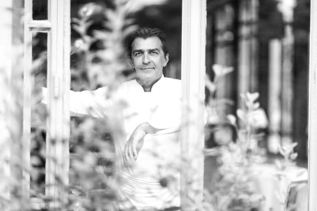 Yannick Alléno chez lui, au Pavillon Ledoyen, à deux pas des Champs-Elysées, de la Concorde et du Petit Palais © Geoffroy de Boismenu