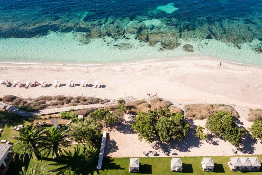Le Gecko Hotel & Beach Club dispose d'un accès direct aux splendides plages de Formentera © DR