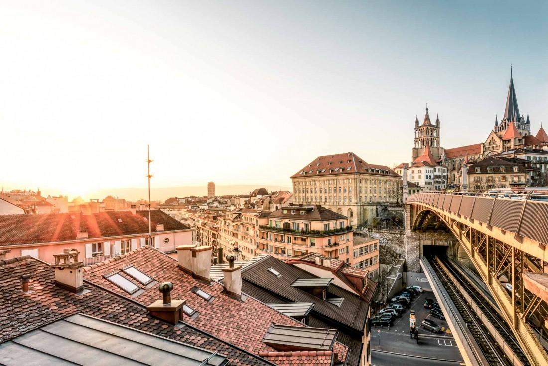 Vue du centre de Lausanne © Swizerland Tourism