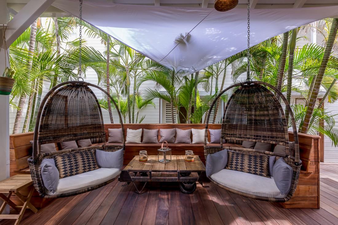 La marque de mode Le Temps des Cerises a récemment inauguré un boutique-hôtel sur l'île de Saint-Martin dans les Caraïbes © Thierry Dehove