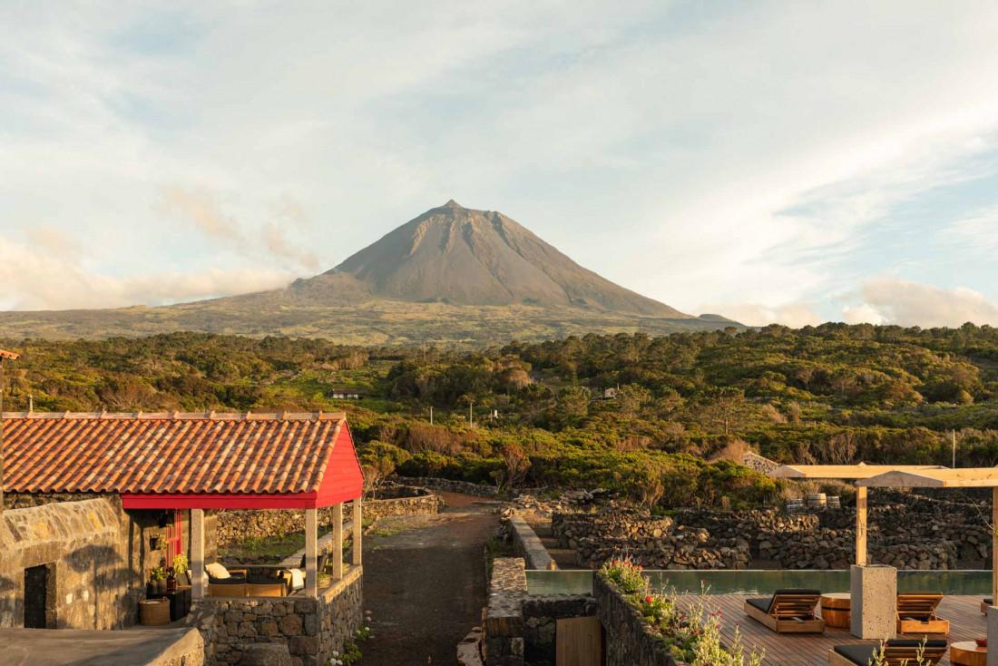 Adega do Fogo et sa vue sur le volcan Pico © Francisco Nogueira