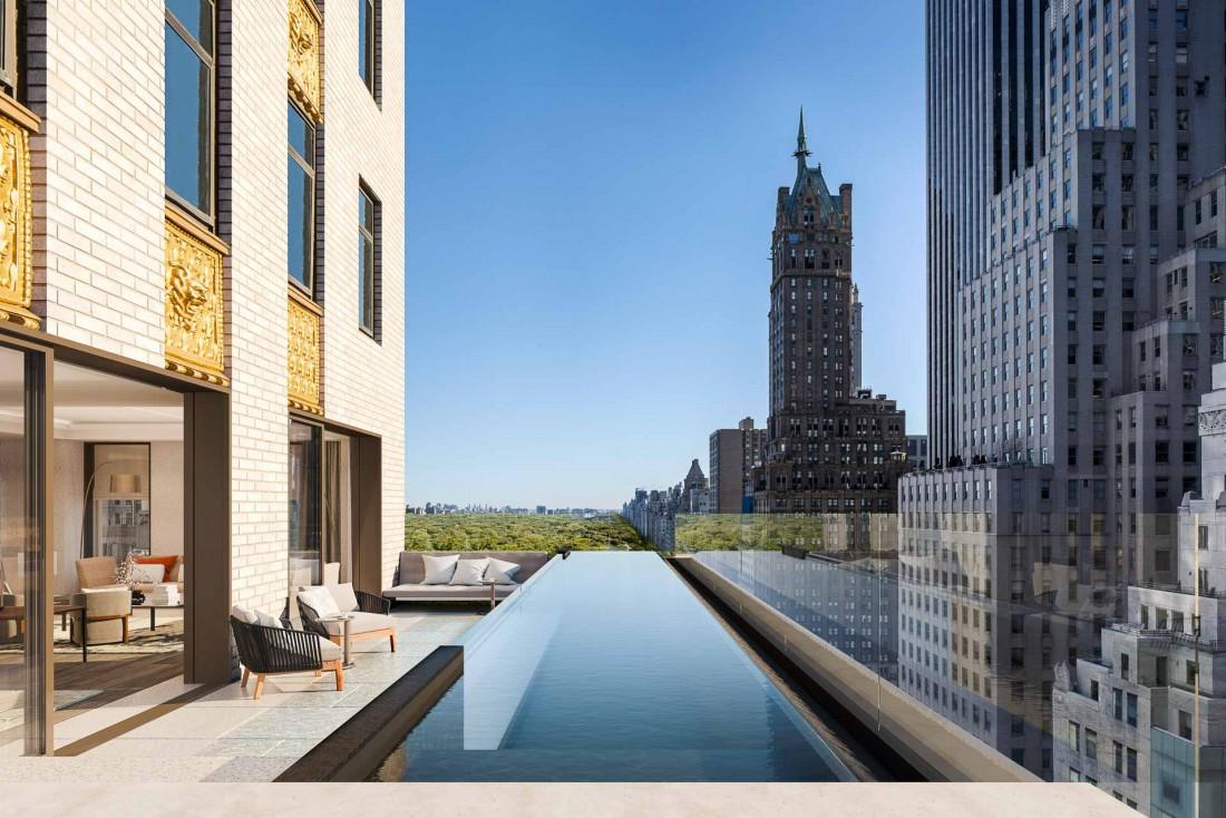 Aman New York | Certaines résidences privées offriront des terrasses et des piscines chauffées © Aman