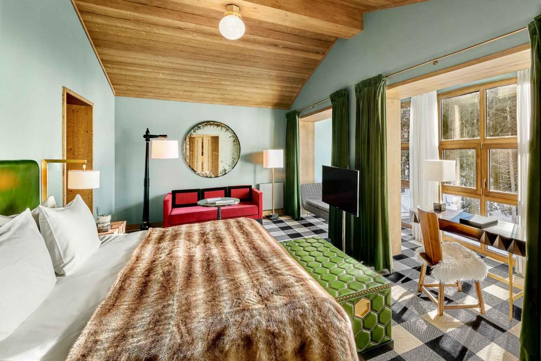 Chambre Penthouse de L'Apogée Courchevel © DR