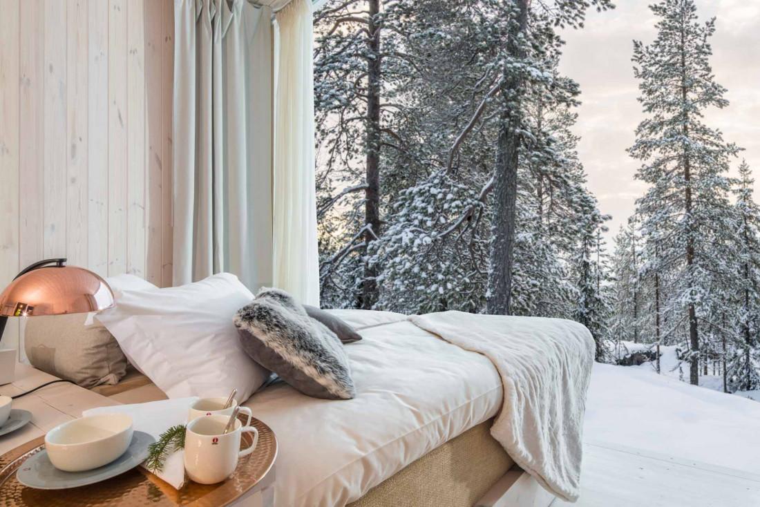 Une chambre en pleine nature à l'Arctic TreeHouse Hotel © TreeHouse Hotel - VisitFinland