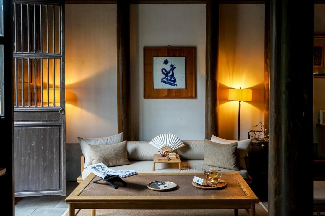 Superbe décor à l'accueil de l'Aman Spa © YONDER.fr