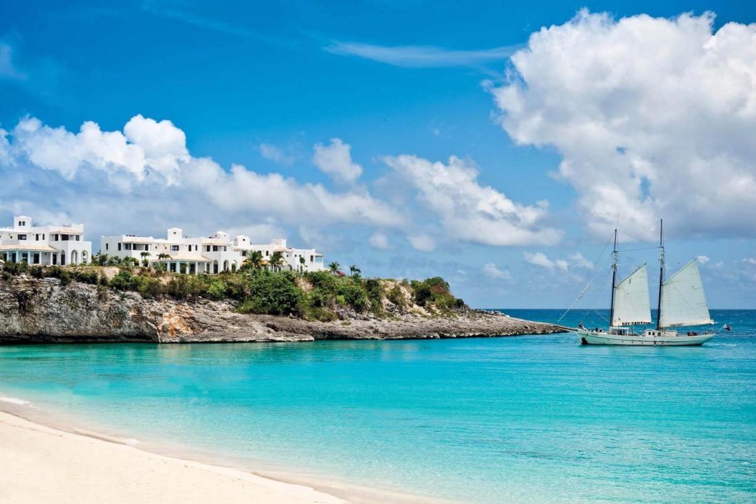 Le Belmond La Samanna en arrivant de l'Océan, surement l'un des plus beaux hôtels de Saint-Martin © Belmond Hotels