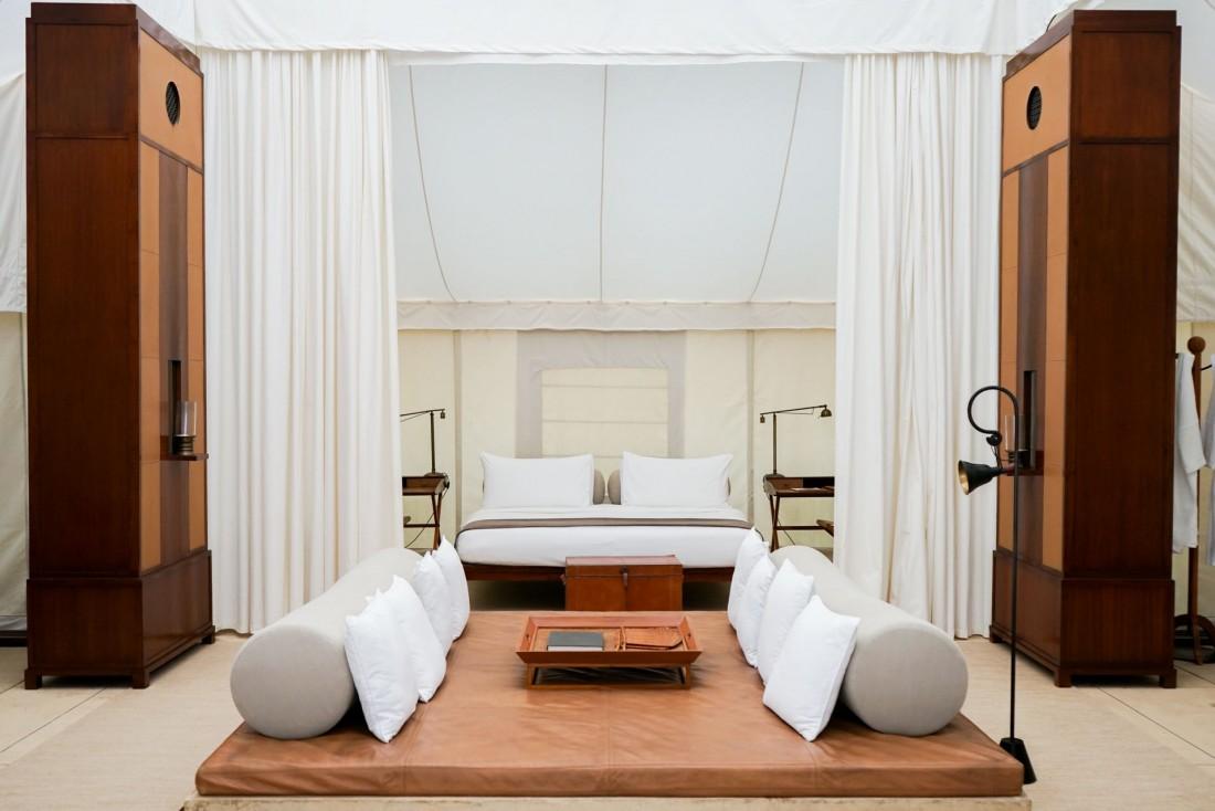 Le décor et l'aménagement des dix tentes de luxe de l'Aman-i-Khás est signé Jean-Michel Gathy © YONDER.fr