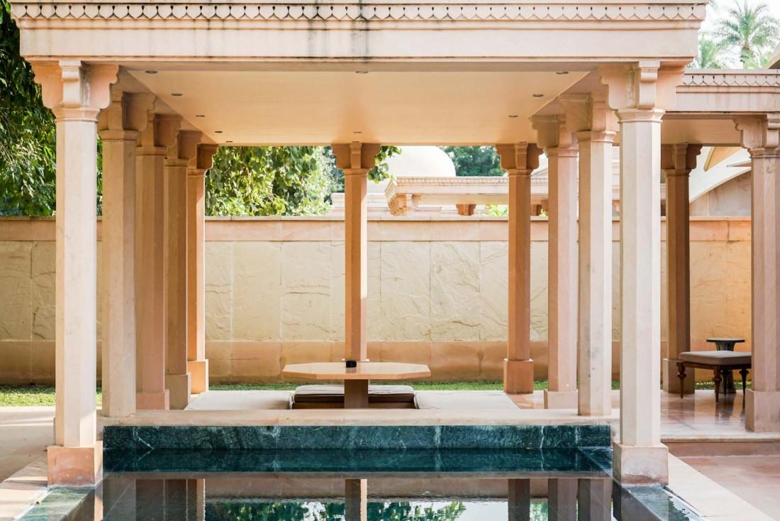 La piscine privée de l'un des pavillons © YONDER.fr