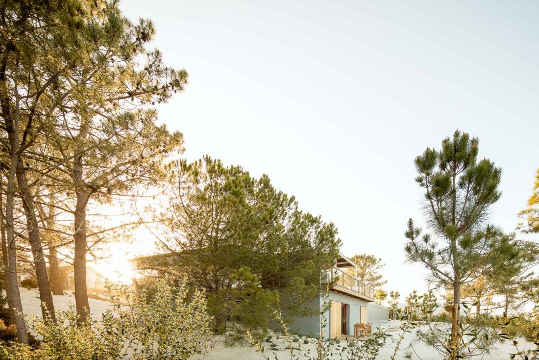 La propriété est composée d'une maison principale et d'un studio indépendant situé dans le jardin paysager © Alma da Comporta