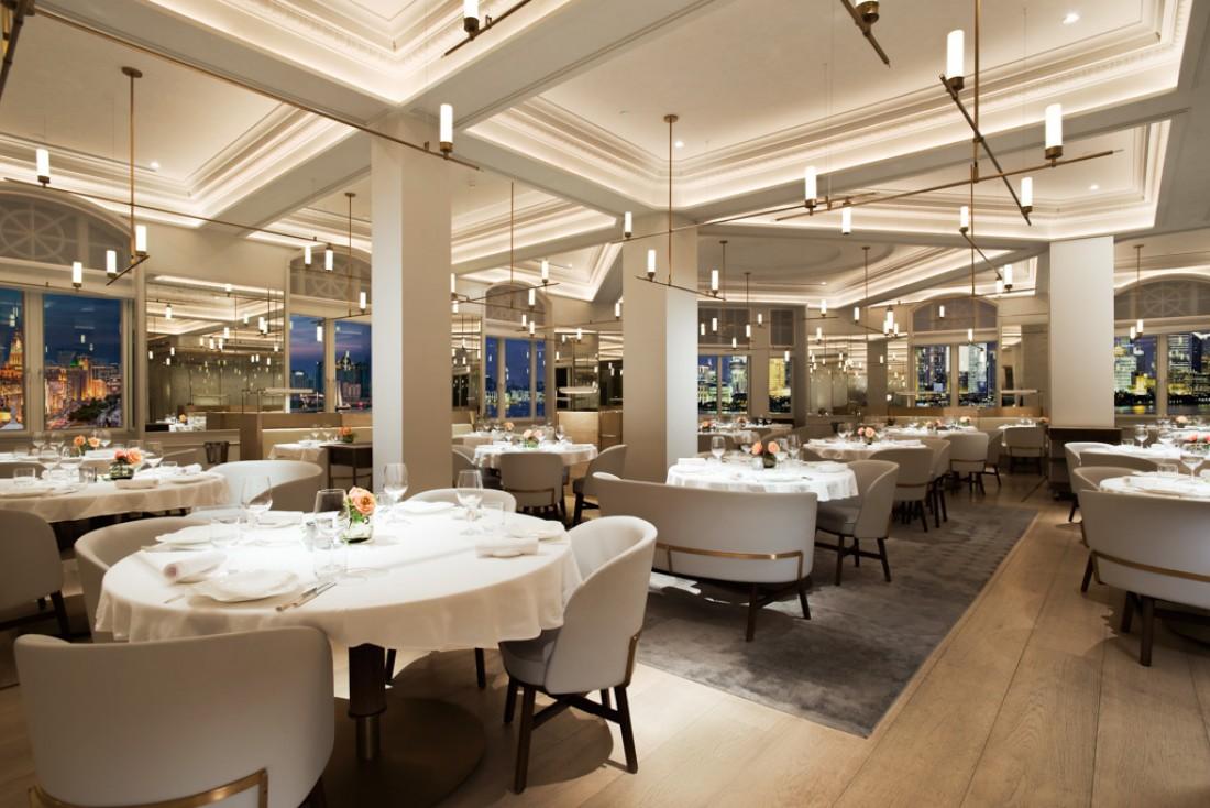 Décoration élégante chez Jean Georges, l'un des pionniers du fine dining à l'occidentale à Shanghai © JG Shanghai