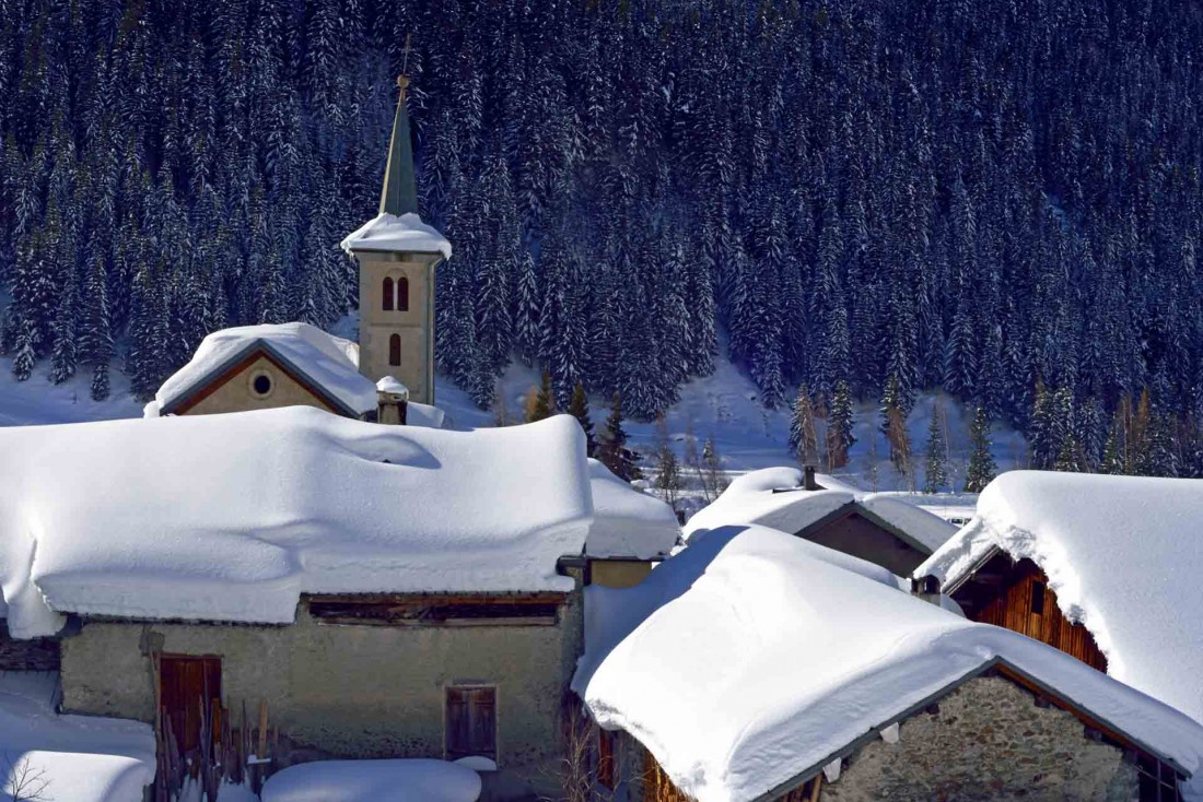 La Plagne | Retour des pistes skis aux pieds directement au chalet © Philippe Royer