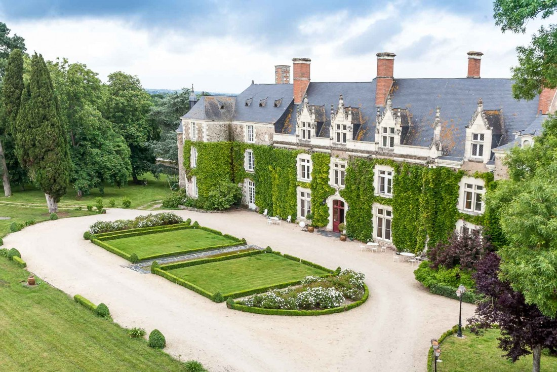 Hôtels Val de Loire | La façade du majestueux Château de l'Épinay en Anjou © Jean-François Dréan