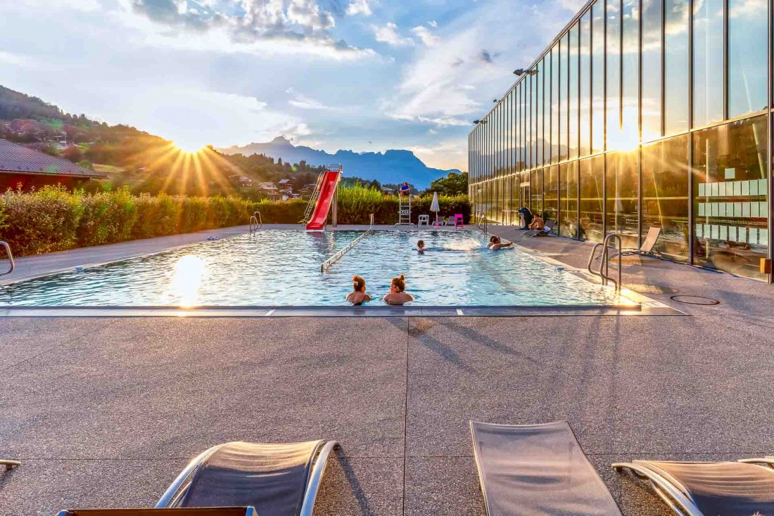 Coucher de soleil depuis la piscine de Saint-Gervais © Boris Molinier