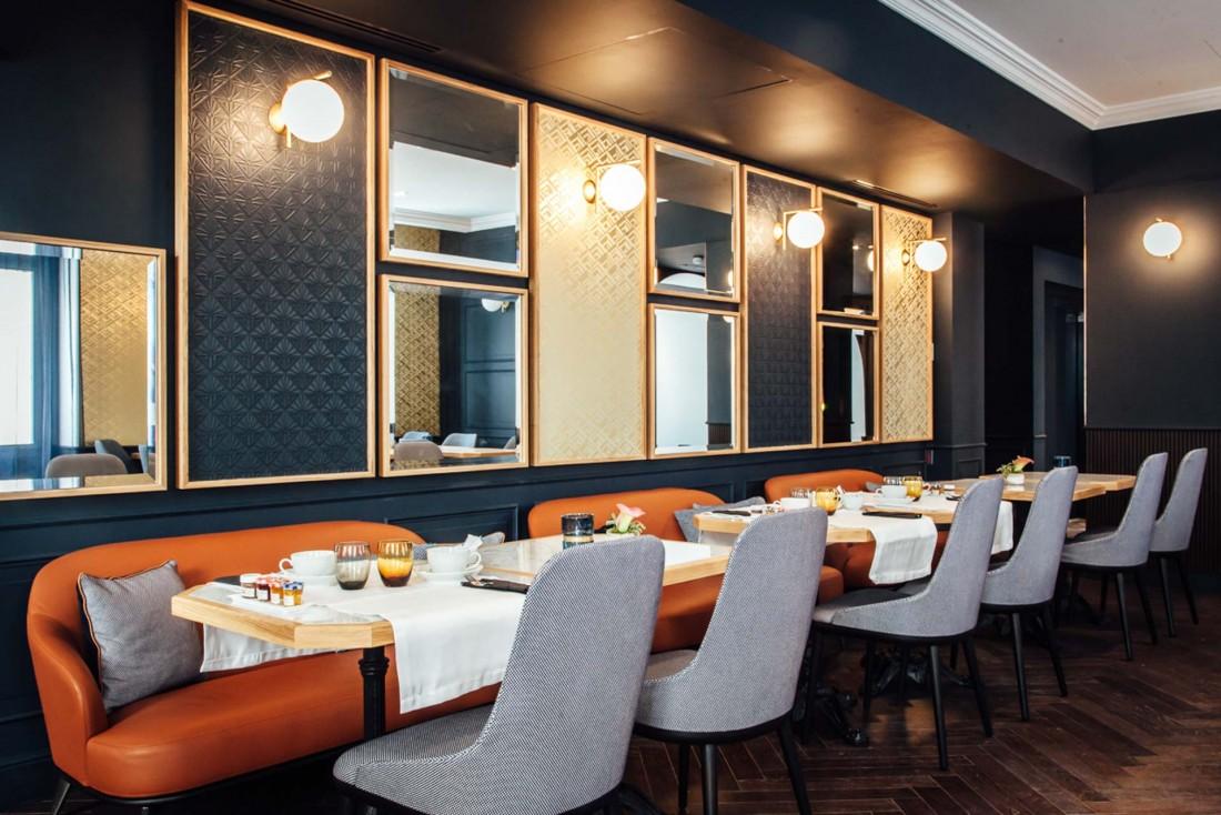 L'espace petit-déjeuner (le goûter y est également servi) © Hôtel Square Louvois