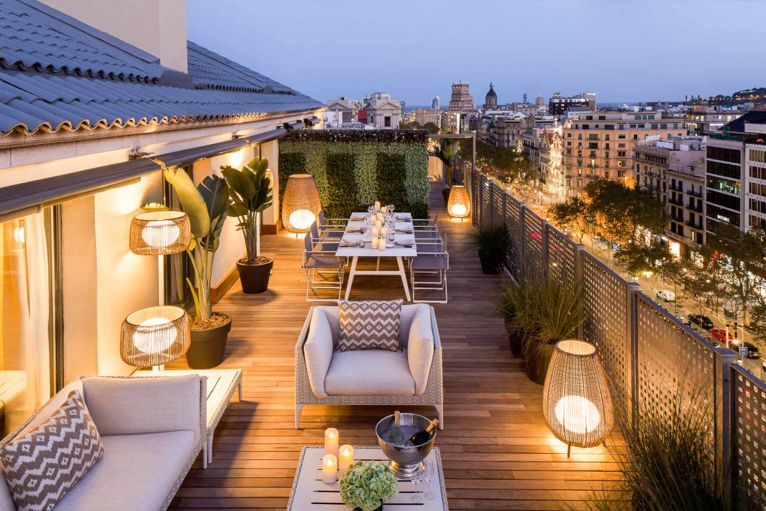Majestic Hotel & Spa Barcelona - La terrasse privée du Royal Penthouse © DR