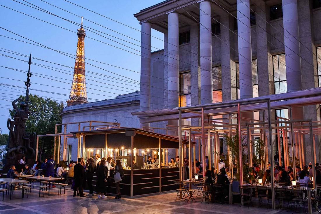EDO, une terrasse XXL sur le parvis du Palais de Tokyo © Chris Saunders - Untold Stories