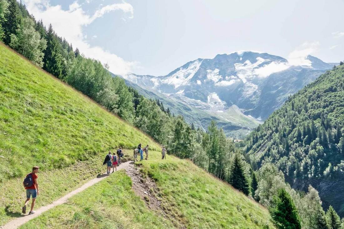 Randonnée vers le hameau de Miage à Saint-Gervais Mont-Blanc © Boris Molinier