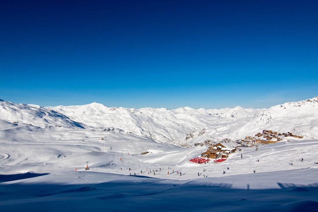 Vue des pistes de Val Thorens © T. Loubere