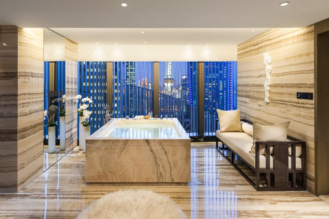 La Suite Présidentielle du Mandarin Oriental Pudong est la plus vaste de Shanghai avec près de 800 mètres carrés de surface © MOHG